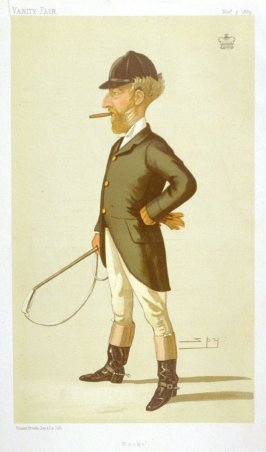 "Sir Robert Bateman Harvey Bart, MP. ""Bucks"" from Vanity Fair, November 7, 1885"