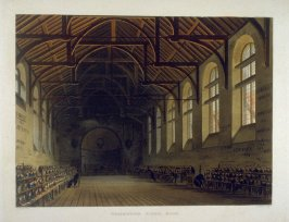 Westminster School Room, from Ackermann's 'The History of the Colleges'
