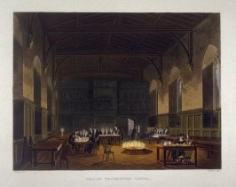 Hall of Westminster School, illustration from Ackermann's 'The History of the Colleges'