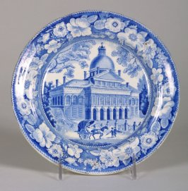 Plate with Boston state house