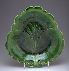 Leaf molded plate