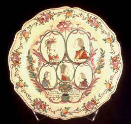 Charger with portraits of members of the House of Orange-Nassau