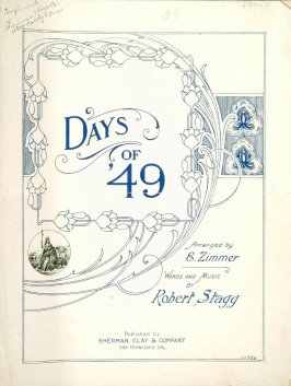 "Sheet music: ""Days of 49"""