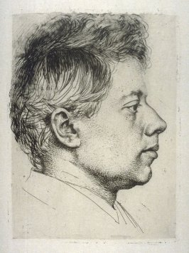 Portrait of the etcher Peter Halm