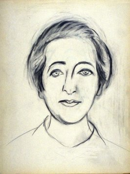 Study for a portrait of Leslie Langer