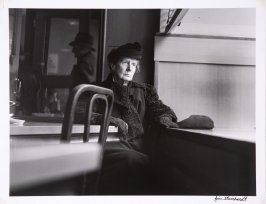 Woman in Cafeteria, Greenwich Village, NYC
