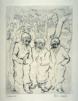 Promenade (Three old Jews walking in the street)