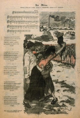 """La Mine (song) from the Paris Daily """"Gil Blas"""""""