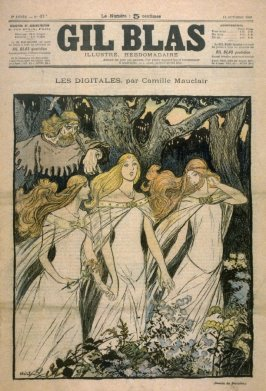 """Les Digitales by Camille Mauclair from the Paris Daily """"Gil Blas"""" (13 October 1895)"""