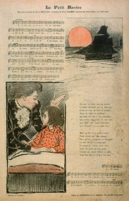 """Le Petit Ravire (song) from the Paris Daily """"Gil Blas"""""""