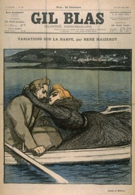 """Variations Sur La Harpe by Rene Maizeroy from the Paris Daily """"Gil Blas"""" (29 January 1897)"""