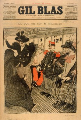 Illustration for the story, La Dot (The Dowry) by Guy de Maupassant, published in Gil Blas, 30 December 1894