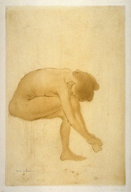 Femme assise s'essuyant les pieds (Large Nude #3)