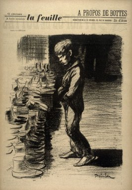 A propos des bottes (By the Boots), cover for La Feuille no. 5 (31 December 1897)