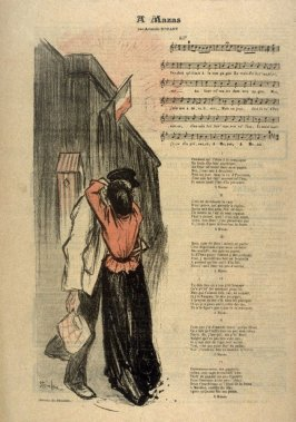 A Mazas (At Mazas), Song by Aristide Bruant, from Gil Blas Illustré