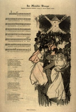 "Le moulin rouge from the Paris Daily ""Gil Blas"""