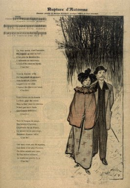 """Rupture d'Automne from the Paris Daily """"Gil Blas"""""""