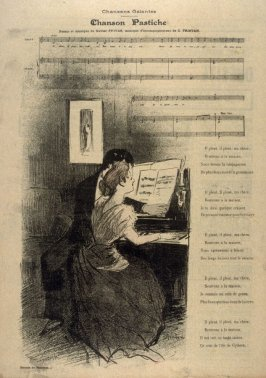 """Chanson Pastiche (song) from the Paris Daily """"Gil Blas"""""""