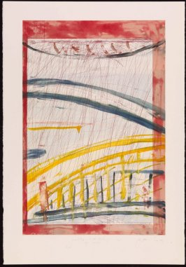 Yellow Bridge in the Rain, after Van Gogh, after Hiroshige