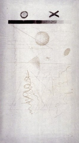Soft ground drawing for panel B of Abstraction, Belief, Desire