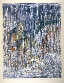 Waterfall Monoprint