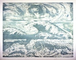Working proof 15 for The Wave-From the Sea-After Leonardo, Hokusai, & Courbet