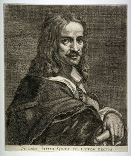 Portrait of Jacques Stella, (after LeBrun)