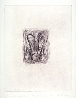 Working proof 1 for Untitled (small drypoint), unpublished