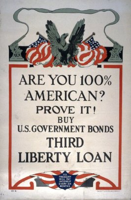 Are you 100% American? - World War I Poster