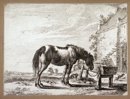 Reverse copy of Le Cheval attache a la mangeoire