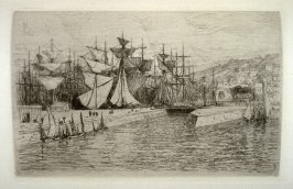 Honfleur, plate 16 in the book, The Etcher (London: Sampson Low…, 1880), vol. 2 [bound in same volume as vol. 1, 1879]