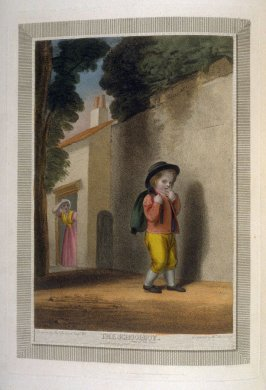 The Schoolboy, plate at p. 3 in the book, Shakespeare's Seven Ages of Man illustrated (London: W. Bromley, 1799)