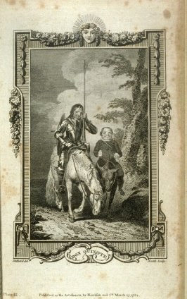 Plate III in the bookThe History and Adventures of the Renowned Don Quixote, translated from the Spanish of Miguel de Cervantes Saavedra...by Dr. Smollett (London: Harrison and Co., 1792)