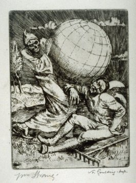 Illustrations to the Earth Fiend (a Ballad by Strang) - Death & the Farmer