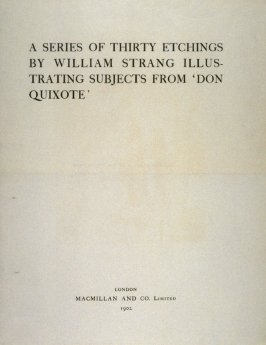 A Series of Thirty Etchings illustrating 'Don Quixote' - Title page