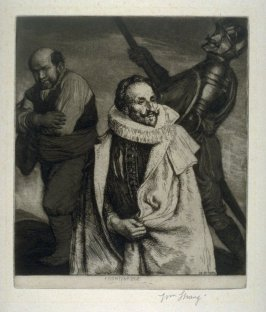 Portrait of Miguel de Cervantes with Don Quixote and Sancho Panza - The Don Quixote Series