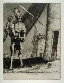 Don Quixote attacking the Windmill - The Don Quixote Series