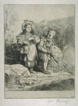 See here, a Boy gathering lilies and lady-smocks, and there a girl cropping culverkeys and cowslips - Illustrations to Compleat Angler Winchester ed.