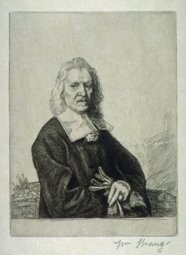 Portrait of Izaac Walton - Illustrations to Compleat Angler Winchester ed.