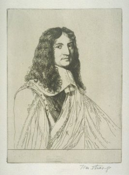 Portrait of Charles Cotton, Esq. - Illustrations to Compleat Angler Winchester ed.