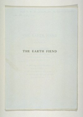 The Earth Fiend (Titlepage and Text)