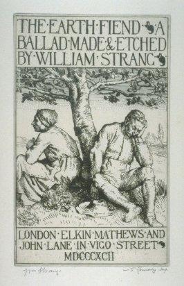Illustrations to the Earth Fiend (a Ballad by Strang) - Frontispiece