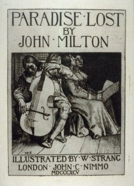 Milton's Paradise Lost - Title print - Milton Playing to his daughters