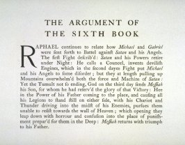 Milton's Paradise Lost - Textpage: The Argument of the Sixth Book