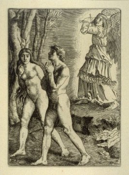 Milton's Paradise Lost - Adam and Eve expelled from Paradise