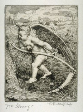 Angel with Scythe - Illustrations to the Earth Fiend (a Ballad by Strang)