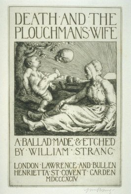 title page of the book, Death and the Ploughman's Wife (London: Lawrence and Bullen, 1894)