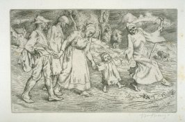 untitled, plate at p. 1 in the book, Death and the Ploughman's Wife (London: Lawrence and Bullen, 1894)