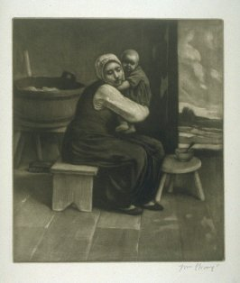 A Ploughman's Wife and Babe, plate at p. 3 in the book, Death and the Ploughman's Wife (London: Lawrence and Bullen, 1894)