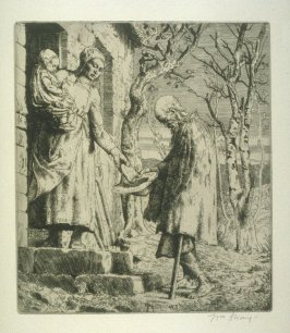 A Hallanshaker, plate at p. 5 in the book, Death and the Ploughman's Wife (London: Lawrence and Bullen, 1894)